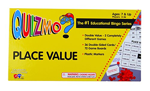 Learning Advantage 8240 QUIZMO Place Value Card (Place Value Games compare prices)