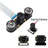 Kuman Raspberry Piに適用カメラモジュール 夜間 赤外線の可視可能 ズームレンズ カメラモジュール Night NoIR Camera 500W画素 感光チップOV5647 Raspberry Pi モデルB/B++ RPI 3 2 1に適用 赤外線フィルインライト付き SC15
