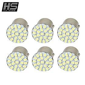 HOT SYSTEM 1157 T25 S25 BAY15D 22 SMD LED Light Bulb For Car Stop Tail Turn Brake Lamp White 6-pack