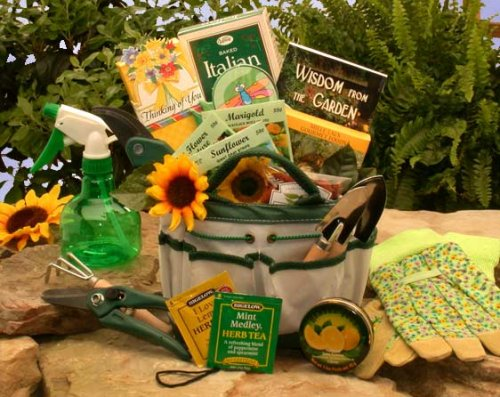 Sunflowers and Herbs Garden Gift Tote