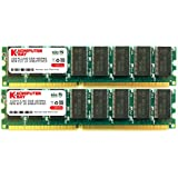 KOMPUTERBAY 2GB (2 x 1GB ) DDR DIMM (184 PIN) 400Mhz PC3200 CL 3.0 DESKTOP MEMORY