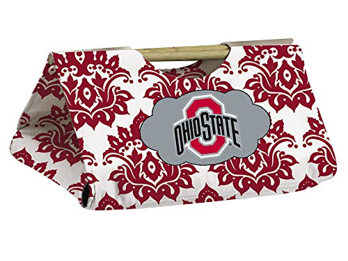Ohio State Buckeyes Damask Pattern Casserole Dish Carrier front-805533