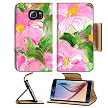 buy Msd Samsung Galaxy S6 Flip Pu Leather Wallet Case Abstract Textured Acrylic And Watercolor Hand Painted Background Impressionism Style Image 28800545 Wi