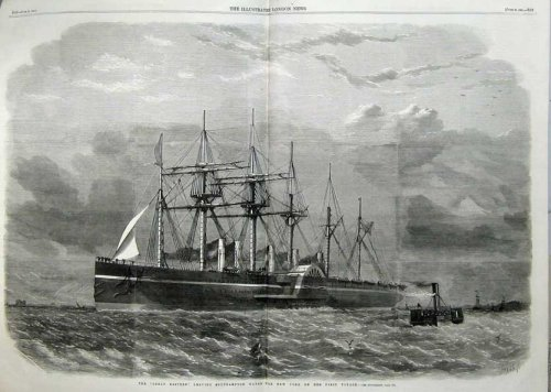 1860 Great Eastern Steam Ship Southampton New York