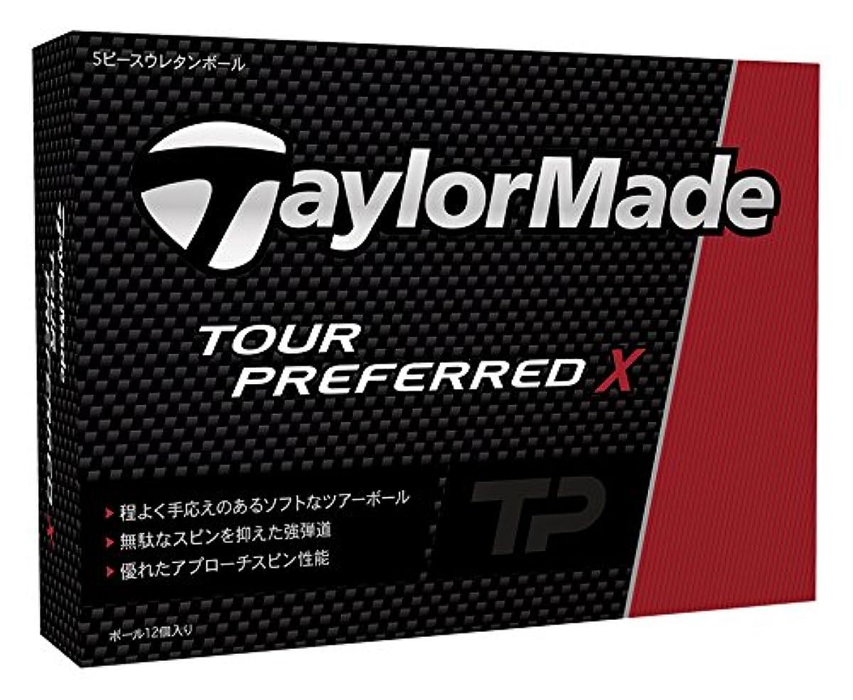 [해외] TAYLOR MADE(테일러메이드) TOUR PREFERRED X 골프 볼(1다스12개 들이) 2016년 모델 볼 컬러 화이트  B1329601 화이트 (2016-03-04)