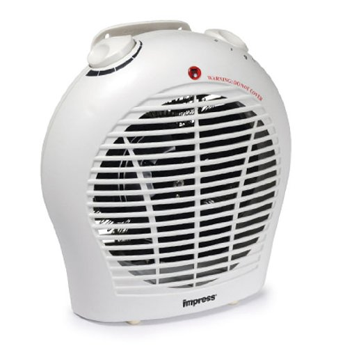 Impress 1500-watt Space Heater with a Quiet Fan and Adjustable Thermostat