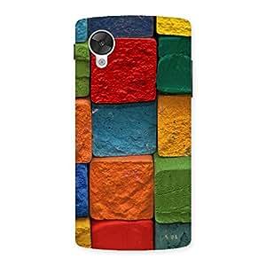 Impressive Color Cubes Multicolor Back Case Cover for Google Nexsus 5