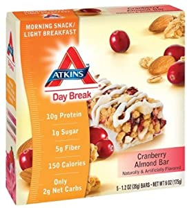 Atkins Day Break Bar Cranberry Almond (Pack of 6)