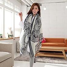 Nouveau femmes automne hiver écharpe chaud foulard en voile(Blanc)