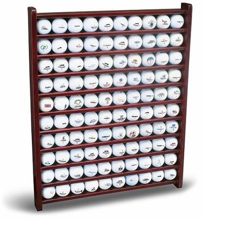 100 Golf Ball Display Rack (Rosewood Finish)