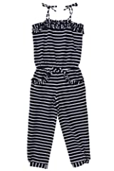 Kate Mack Girl's 2-6X Monte Carlo Romper in Navy
