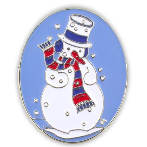 Snowman Christmas Holiday Lapel Pin