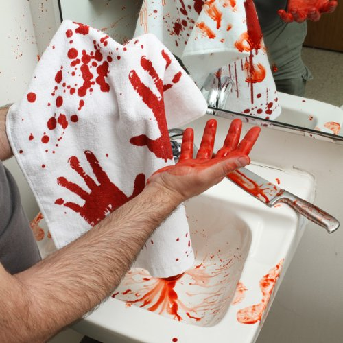 Bloody Hand Towel for bathroom