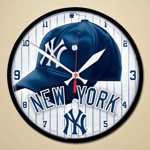 MLB New York Yankees Round Clock