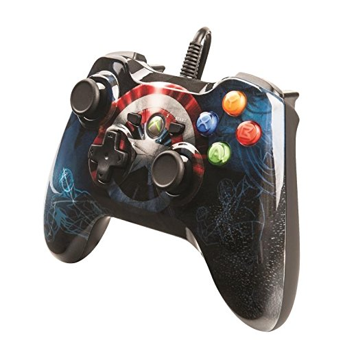 Captain America Marvel Avengers Xbox 360 Wired Controller (Captain America Game Xbox 360 compare prices)