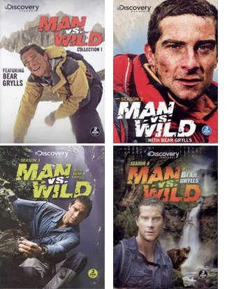 Man vs. Wild Season 1 2 3 4 One Two Three Four DVD 1-4