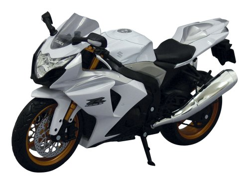 SKYNET 1/12 | Scale Model Motorcycle | SUZUKI GSX R1000 WHITE ( Japanese Import )