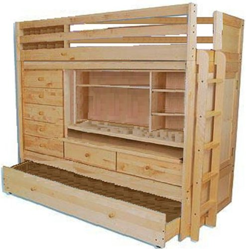 Bunk bed with trundle building plans
