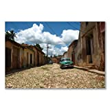 Poster art print: CUBA - TRINIDAD STREET OLD CARS UNESCO (A1 maxi - 61x91.5cm / 24x36in, glossy photo paper)