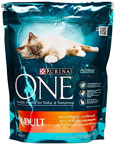 Purina - Alimento Completo Per Gatti Adulti, Ricco In Pollo E Cereali Integrali - 800 G