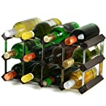 Traditional Wooden Wine Racks - Black...