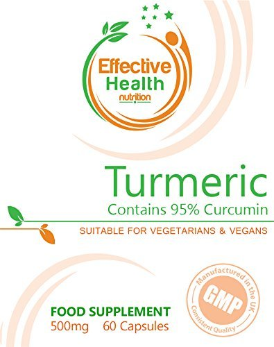 Turmeric 500mg 60 Capsules - Daily Health Supplement to Support ...