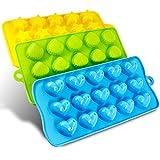 シリコン モールド Finegood 成形 モールド キャンディ チョコレート 金型 アイスキューブ トレー ハート 星&貝がら 玩具キッズセット