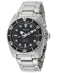 Seiko Men's SKA371 Kinetic Dive Silver-Tone Watch