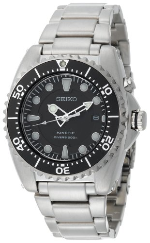 Seiko ska371 stainless steel kinetic dive watch best watches - Best seiko dive watch ...