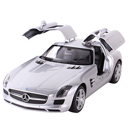 YESURPRISE Modellauto Rastar Spielauto Fernbedienung Auto Car Modell R/C 1:14 Mercedes-Benz SLS 47600-8 Silver Car Model