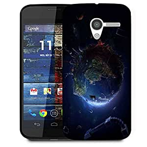 Snoogg Animated Earth Designer Protective Phone Back Case Cover For Moto X / Motorola X