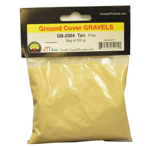 JTT Scenery Products Ballast and Gravel, Tan, Fine/200gm