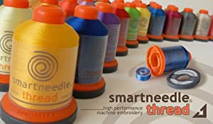 """50 Spools Embroidery Thread Collection (BOBBIN TYPE """"A"""") - By Smartneedle"""