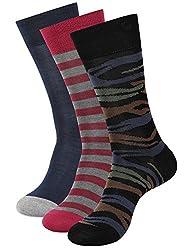 Balenzia Men's Mercerized Socks (Pack Of 3) (Jagmini14_Multi)