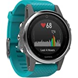 Garmin Fenix 5S Multi-Sport GPS Watch SILVER/TURQUOISE (Color: SILVER/TURQUOISE, Tamaño: 42 MM)