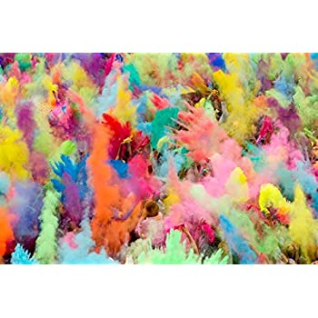 ColorMarathon(TM) Premium Quality HOLI Colors - 12 Lbs (6 colors X 2lbs Ea color) RED, YELLOW, PINK, BLUE, GREEN, AND PURPLE - SHIPS FROM USA
