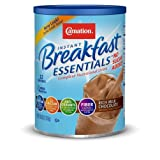 Carnation Instant Breakfast Essentials Drink Mix, Rich Milk Chocolate, No Sugar Added, 8.46-Ounce Canisters (Pack of 3) ~ Carnation