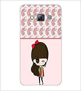PrintDhaba Cute Doll D-5872 Back Case Cover for SAMSUNG GALAXY A3 (Multi-Coloured)