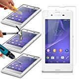 Sony Xperia E3 Pack Of 1 Premium Tempered Glass Crystal Clear LCD Screen Protectors Packs With Polishing Cloth & Application Card by iPhone R Us®