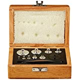 United Scientific AWB100 Wooden Analytical Weight Box, Set of 9 Weights