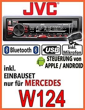 Mercedes-benz w124 classe e jVC-kD-r861BT-autoradio cD/mP3/uSB avec kit de montage