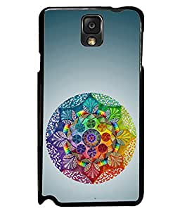 PRINTVISA Premium Metallic Insert Back Case Cover for Samsung Galaxy Note 3 - N7000 - D6119