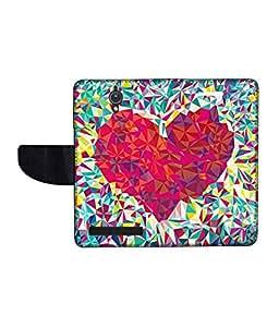KolorEdge Printed Flip Cover For Asus Zenfone C -Multicolor (47KeMLogo10560ZenC)