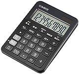 カシオ カラフル電卓 ミニジャストタイプ 10桁 MW-C12A-BK-N スマートブラック