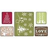 Sizzix Textured Impressions Embossing Folders 5PK - Sending Christmas Love Set by Rachael Bright