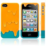 Melt Ice Cream Detachable Hard Case for iPhone 4S/iPhone 4 (Orange+Green)