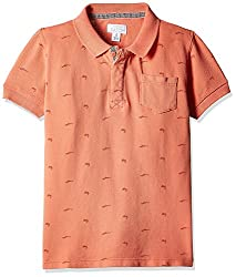 Pumpkin Patch Boys' Polo (S5BY11044_Sunset Orange_5)