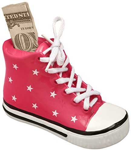Fashioncraft Pink Ceramic Sneaker Bank