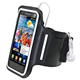 IGadgitz Reflective Anti-Slip Neoprene Sports Gym Jogging Armband for Samsung Galaxy S2 i9100 - Black