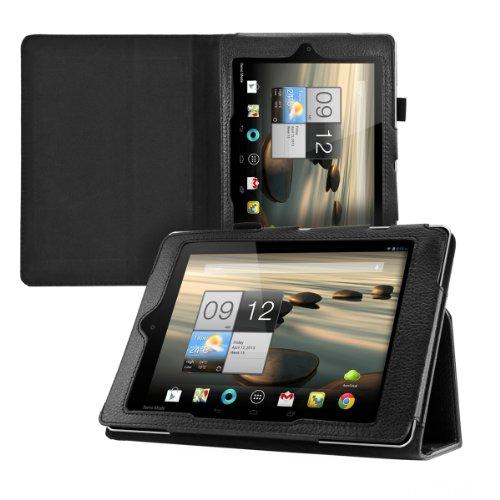 kwmobile Hülle für Acer Iconia A1-810 / A1-811 mit Ständer - Kunstleder Tablet Case Cover Tasche Schutzhülle in Schwarz